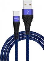 Кабель TFN TypeC forza 1.0m Blue-Black TFN-CFZUSBCUSB1MBL