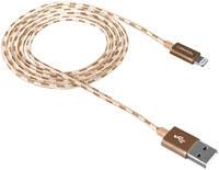 Кабель Canyon CNE-CFI3GO Lightning 1м Gold