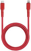 Кабель EnergEA FibraTough Lightning MFI 1,5 м Red