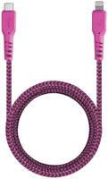 Кабель EnergEA FibraTough Lightning MFI 1,5 м Pink