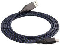 Кабель EnergEA NyloGlitz USB-C — USB-A (2.0) 1.5 м синий