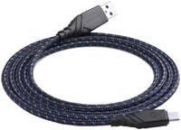 Кабель EnergEA NyloGlitz micro-USB — USB-A (2.0) 1.5 м синий
