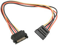 Cablexpert Переходник питания SATA F на SATA M, удлинитель, 30 см, CC-SATAMF-01