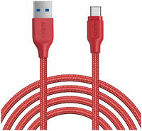 Кабель Aukey Braided Nylon Type-C 2м Red (CB-AC2)