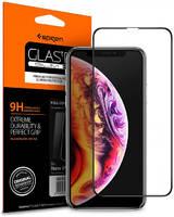 Защитное стекло Spigen для Apple iPhone XR Black SLIM Full Cover