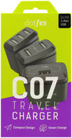Сетевое зарядное устройство Dotfes C07, 1xUSB, 2,1 A