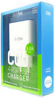 Сетевое зарядное устройство Dotfes C06, 4xUSB, 4,8 A