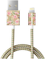 Кабель iDeal Fashion Cable Lightning 1м Champagne Birds (IDFCL-65)