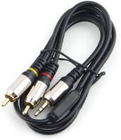 Кабель AUX Cablexpert CCAB-02-35M2RM-1MB 3.5 mm jack/2 RCA 1м Black