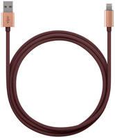 Кабель Vipe Lightning 1м Burgundy USB - Lighting MFI бордовый