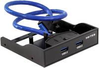 Переходник 5bites FP183P панель в корпус 3.5 дюйма два разъема Af USB 3.0