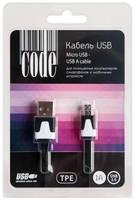 Кабель Code CBL108 USB to microUSB Black