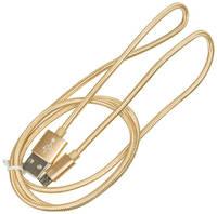Кабель BURO Braided, micro USB (m) - USB (m), 1м, золотистый [bhp ret micusb-br]
