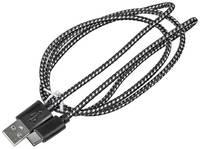 Кабель BURO Braided, USB Type-C (m) - USB (m), 1м [bhp ret typec1]