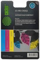 Заправочный комплект CACTUS CS-RK-C9352, для HP, 90мл, многоцветный