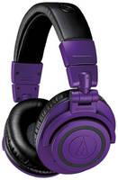 Гарнитура AUDIO-TECHNICA ATH-M50XBTPB, 3.5 мм/Bluetooth, мониторные, матовый [80001237]