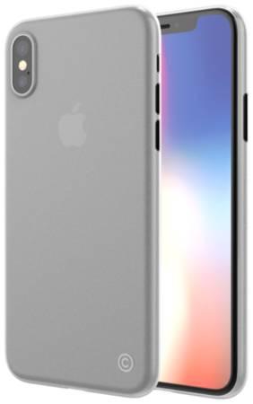 Чехол LAB.C 0.4 LABC-198-CR для iPhone X, материал пластик, матовый
