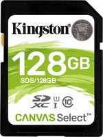 Карта памяти 128GB - Kingston SDHC Canvas Select 80R CL10 UHS-I SDS/128GB