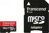 Карта памяти Transcend Micro SDHC Card 128GB Class 10 U1 w/adapter (TS128GUSDU1)