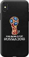 Чехол Deppa ЧМ по футболу FIFA™ Логотип, вышивка, для Apple iPhone X Black