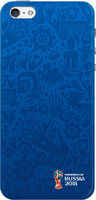 Клип-кейс Deppa Fifa для Apple iPhone 5S/SE Official Pattern (синий)