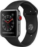 Apple Watch Series 3 Cellular 42mm Space Aluminum Case with Sport Band MQK22