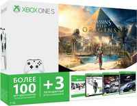 Игровая консоль Microsoft Xbox One S 1 ТБ + Assassin's Creed + Forza Motorsport 6 + Quantum Break + The Crew + Xbox Game Pass